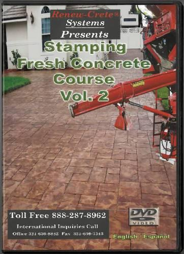Stamping Fresh Concrete Course - Vol. 2 Renew-Crete Systems