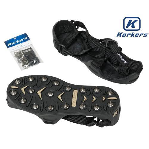 Midwest Rake S550 Professional - Korkers TuffTrax Spiked Shoes - Sharp Tip Seymour Midwest