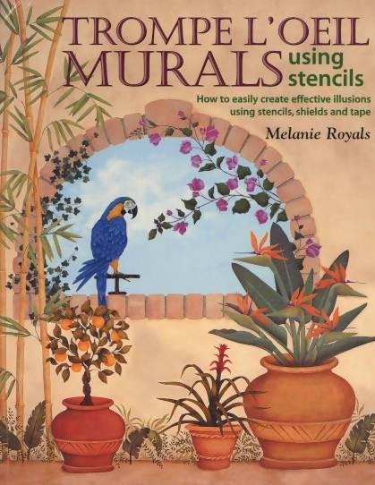 Trompe L'oeil Murals Using Stencils by Melanie Royals - Concrete Decor RoadShow - Concrete Decor Marketplace