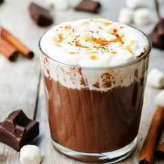 Salted Caramel & Spiced Rum Hot Chocolate
