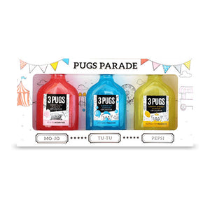 Pugs Parade Gin Liqueur Gift Set by 3 Pugs Gin