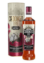 Load image into Gallery viewer, Crooked Eye Caribbean Spiced Cherry Rum Gift Tube 70cl