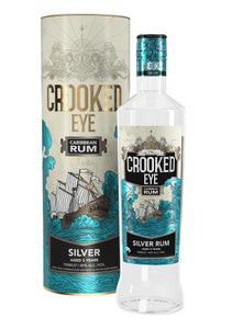 Crooked Eye Caribbean Silver Rum Gift Tube 70cl