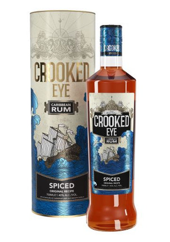 Crooked Eye Caribbean Spiced Rum Gift Tube 70cl