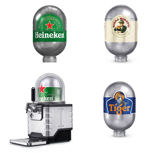 Heineken Blade Draught System Starter Kit with 3 x 8L Kegs