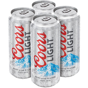 Coors Light Lager 4 x 500ml Cans