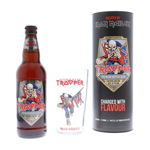Iron Maiden Trooper Ale Gift Tube & Glass 1 x 500ml