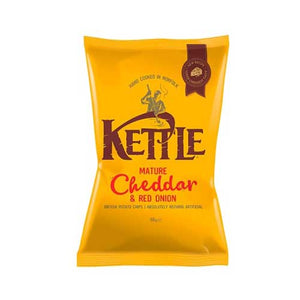 Kettle Crisps Mature Cheddar & Red Onion Potato Chips 18 x 40g