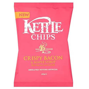Kettle Crispy Bacon & Maple Syrup Potato Chips 18 x 40g