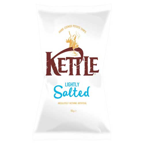 Kettle Crisps Lightly Salted Potato Chips 18 x 40g
