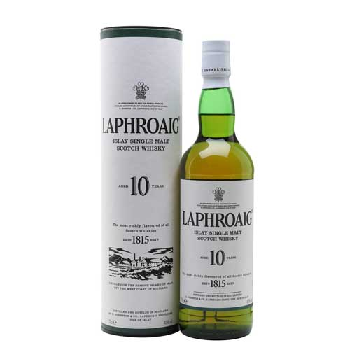 Laphroaig 10 Year Old Whisky 70cl