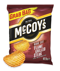 McCoy's Flame Grilled Steak Ridge Cut Potato Crisps 36 x 47.5g