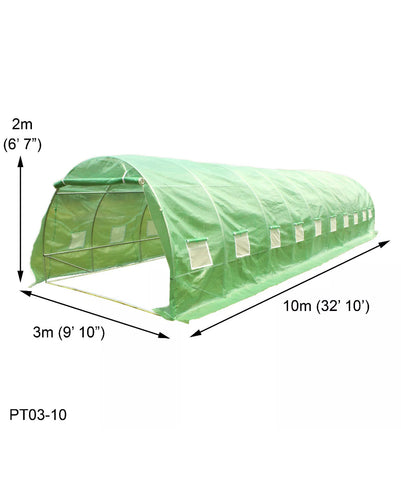 10m x 3m Polytunnel Greenhouse Garden Tent Pollytunnel