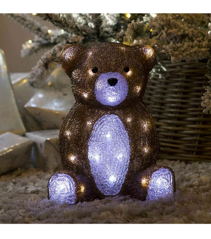 Image of Christmas Light Acrylic Character LED Novelty Decoration Outdoor Indoor Santa, Snowman, Penguin, Fox, Bear, Mushroom Lights