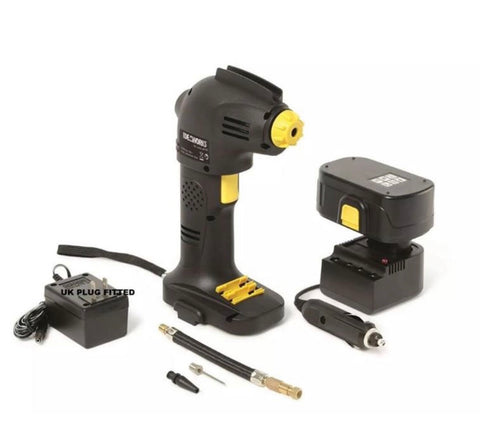 Image of Rechargeable Cordless Tyre Inflator Air Compressor Car Pump