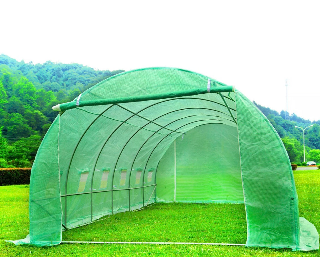 6M X 3M Heavy Duty Fully Galvanised Steel Frame Polytunnel Greenhouse