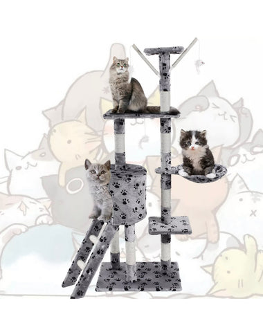Deluxe Scratching Scratch Post Kitten Cat Climbing Frame