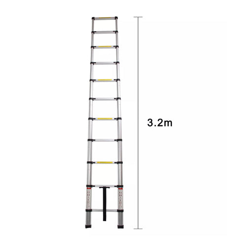3.2m Portable Heavy Duty Aluminium Telescopic Ladder Extendable