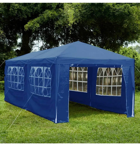 Image of 3X6M WITH 6 SIDES MARQUEE GAZEBO TENT GARDEN PARTY WATERPROOF CANOPY SHELTER WINDBARS