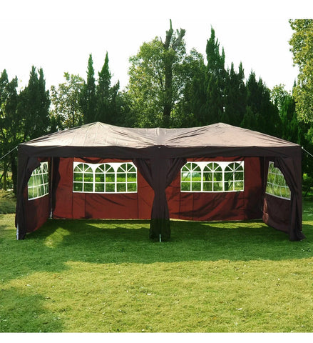 Heavy Duty 6m x 3m Waterproof Pop Up Marquee Gazebo