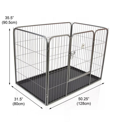 Heavy Duty Puppy Playpen Run Crate Enclosure Whelping Dog Cage inc Floor