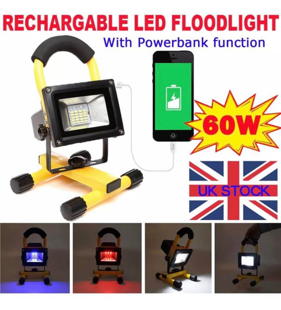 Rechargeable Portable Floodlight LED Flood Light 60W