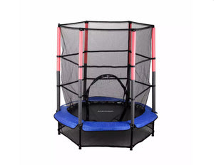 Childrens Kids Trampoline With Safety Net – 4.5FT Multiple Colours
