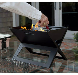 Stylish Portable Patio Heater Table Top Fire Pit Easy To Carry For Park Garden