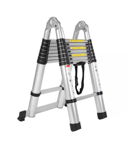 Image of 5m Aluminum Alloy Ladder Multi-Purpose Climb Telescopic Extendable Step