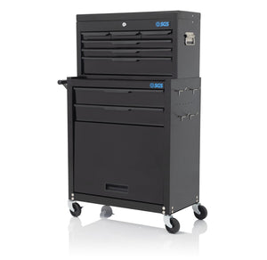 BLACK 8 DRAWER TOOL BOX CHEST & ROLLER CABINET