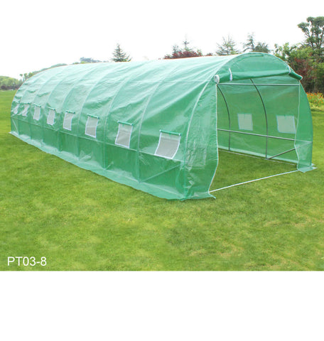 Image of 3m x 8m Polytunnel 25mm Galvanised Frame Greenhouse