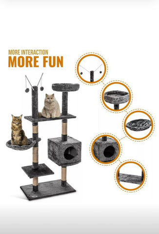 Brand New Large Cat Scratching Post Climbing Activity Centre Kitten Cat Scratcher