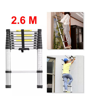 2.6M Telescopic ladder extendable collapsible step ladders