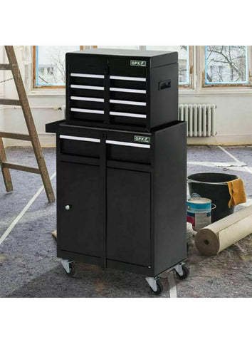 PORTABLE LARGE TOOL CHEST TOP CABINET TOP BOX AND GARAGE STORAGE ROLL CABINET