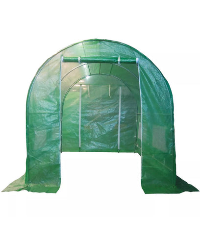 3x2x2m Polytunnel Greenhouse Fully Galvanised Steel Frame Pollytunnel