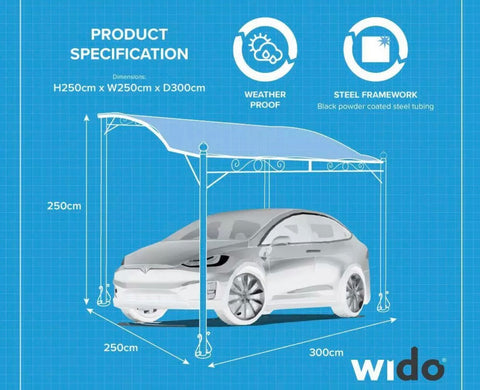 CAR CANOPY CARPORT GAZEBO GARAGE AWNING GARDEN MARQUEE PATIO PORCH TENT