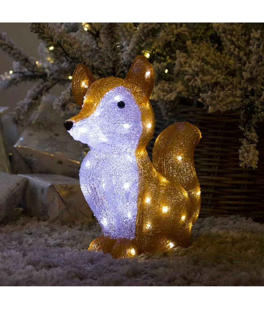 Christmas Light Acrylic Character LED Novelty Decoration Outdoor Indoor Santa, Snowman, Penguin, Fox, Bear, Mushroom Lights