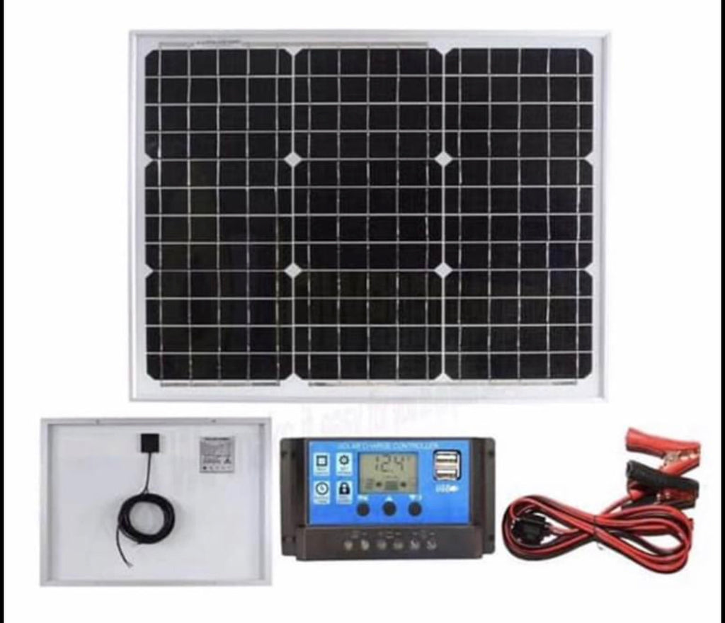Solar Panel Kit 30W 12V for a motorhome, caravan, camper, boat