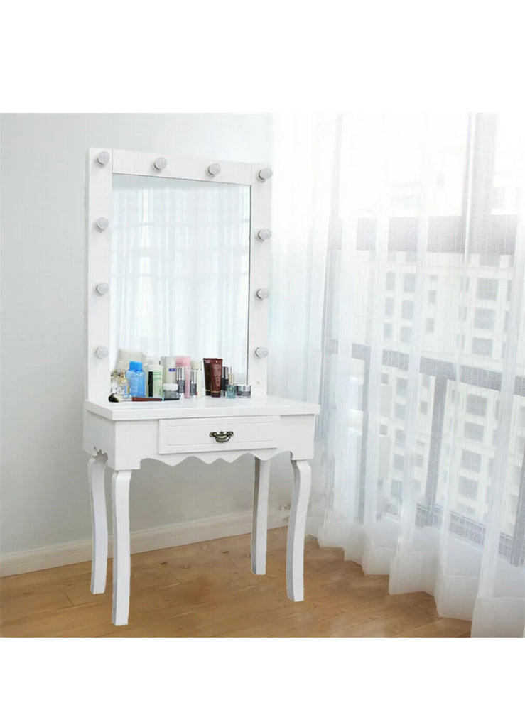 Beautiful Hollywood Mirror Dressing Table Vanity Makeup Hair Salon