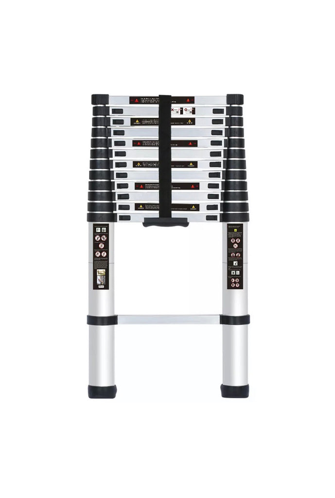 3.8M Portable Heavy Duty Multi-Purpose Aluminium Telescopic Ladder Extendable EN131