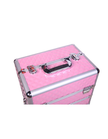 Image of Beautiful Makeup Case Trolley Aluminium 4 In 1 In Various Colours