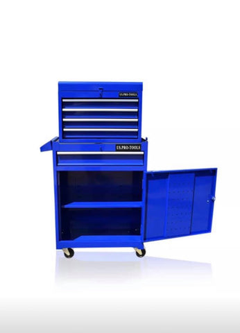 PRO TOOL CHEST BOX CABINET WITH BALL BEARING DRAWERS