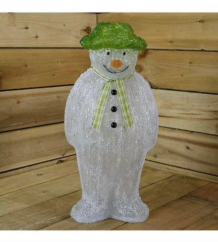 The Snowman Christmas Outdoor Garden Decoration - 55cm - 100 Ice White LED's