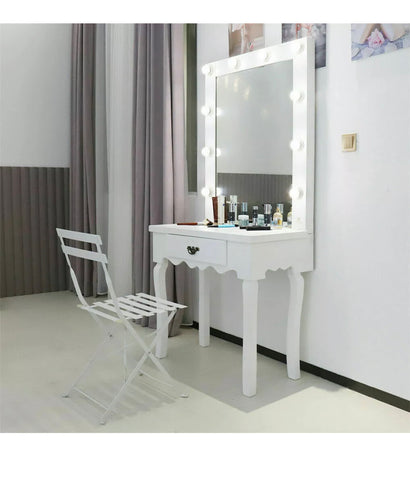 Image of Beautiful Hollywood Mirror Dressing Table Vanity Makeup Hair Salon