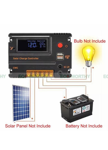 100W Solar Panel Kit 18V Charge Kit 20A solar Controller 12V 24V RV Camper off grid