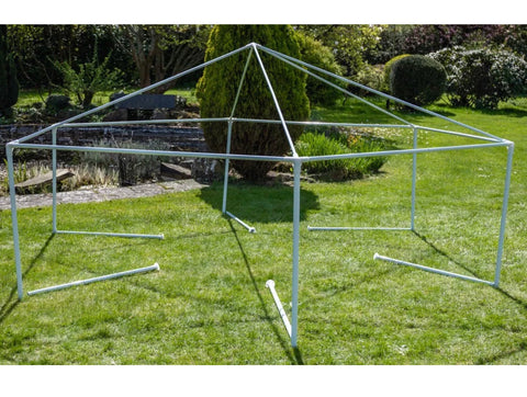 4m x 4m Party Gazebo Tent Green Marquee