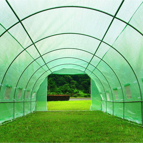 Image of 6M X 3M Heavy Duty Fully Galvanised Steel Frame Polytunnel Greenhouse