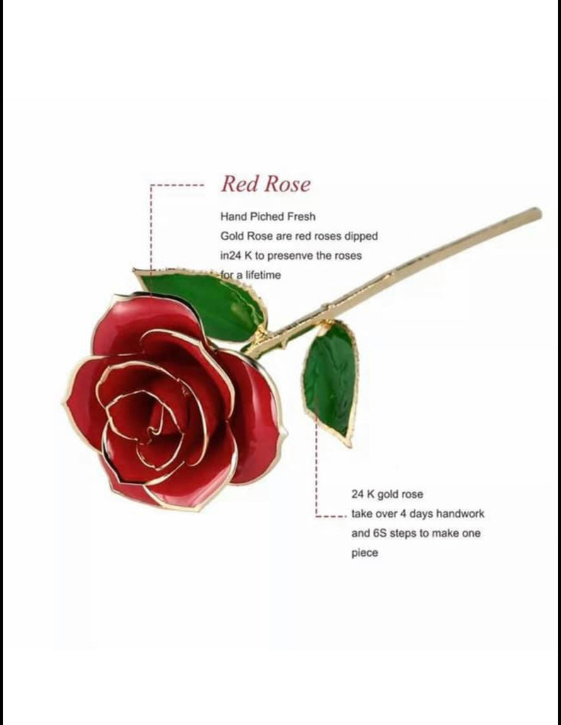 24K Gold Dipped 100% Real Forever Rose Flower