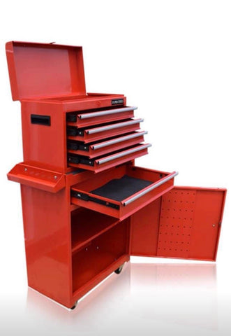 Image of PRO TOOL CHEST BOX CABINET WITH BALL BEARING DRAWERS