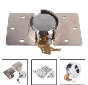 Heavy Duty High Quality Steel Padlock & Hasp Van Lock Set with 2 keys!